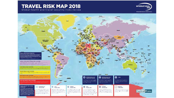 Travel Risk Map 2018