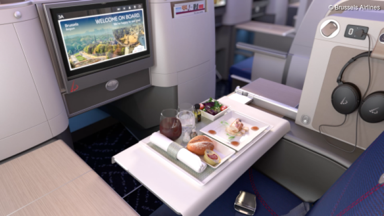 Brussels Airlines Business Class Star Chef Meal